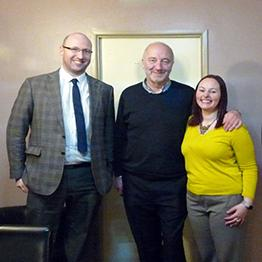 Liz and Darren of DigiEnable with Cartoonist Tony Husband