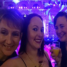 Liz, Gill and Becky at the EVAS2018