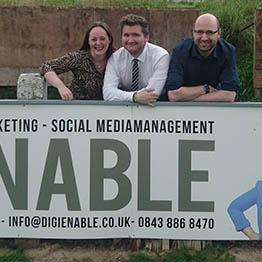 DigiEnable Pitchside banner Chorley FC